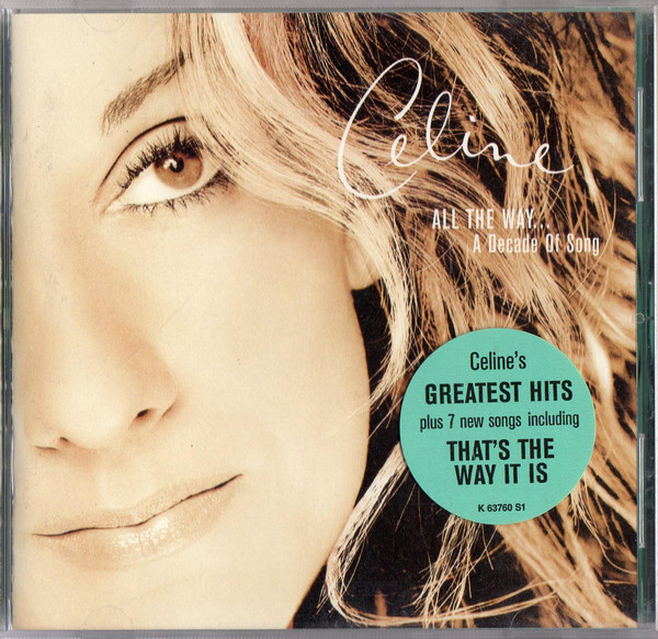 CD Celine Dion* ‎– All The Way... A Decade Of Song
