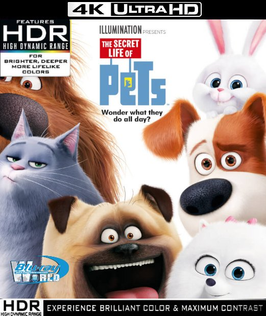 UHD126. The Secret Life of Pets 2016 UHD 4K (55G)