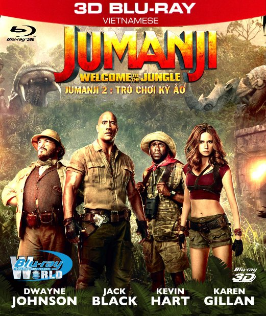 Z248. Jumanji: Welcome To The Jungle 2017 - Jumanji 2 : Trò Chời Kỳ Ảo 3D50G (DTS-HD MA 5.1)