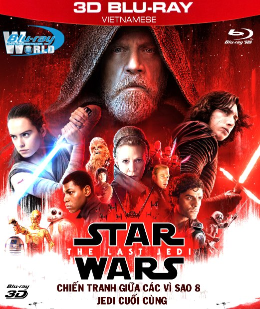 Z250. Star Wars VIII The Last Jedi 2017 - Star Wars 8: Jedi Cuối Cùng 3D50G (DTS-HD MA 7.1)