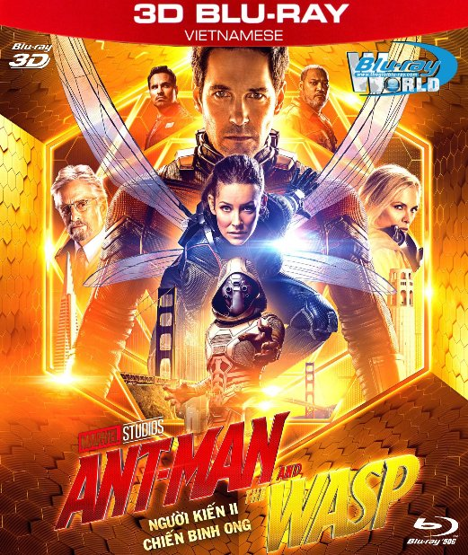 Z264. Ant-Man and the Wasp 2018 - Người Kiến II : Chiến Binh Ong 3D50G (DTS-HD MA 7.1)