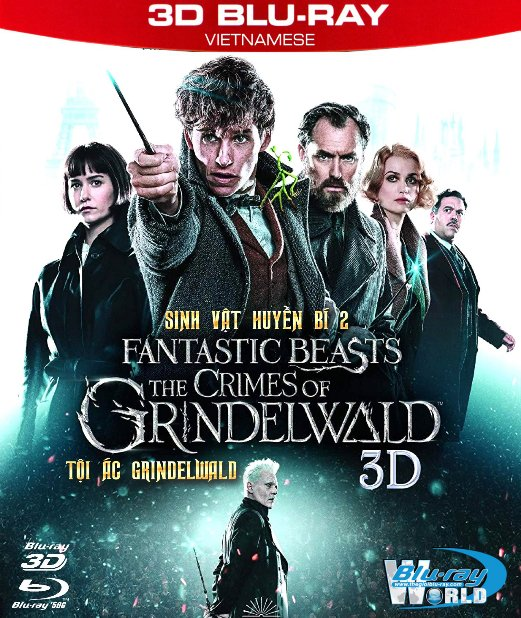 Z271. Fantastic Beasts The Crimes of Grindelwald 2019 - Sinh Vật Huyền Bí II Tội Ác Của GrindelWald 3D50G (TRUE- HD 7.1 DOLBY ATMOS)