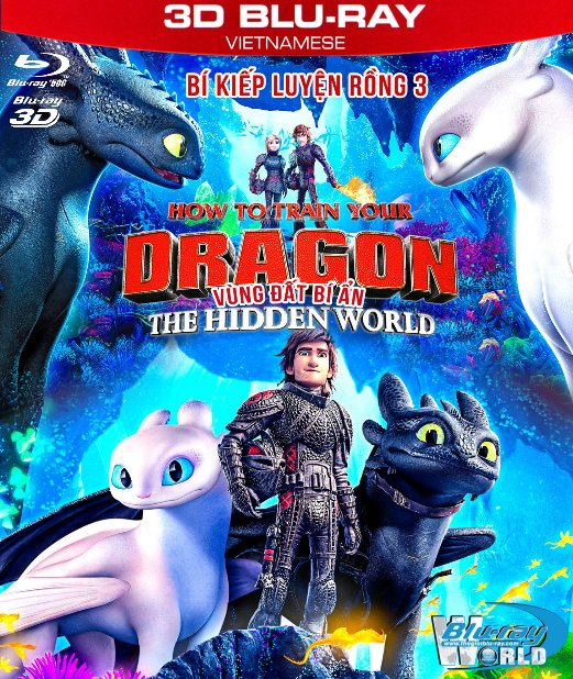 Z276. How to Train Your Dragon III: The Hidden World 2019 - Bí Kíp Luyện Rồng 3: Vùng Đất Bí Ẩn 3D50G (TRUE- HD 7.1 DOLBY ATMOS)