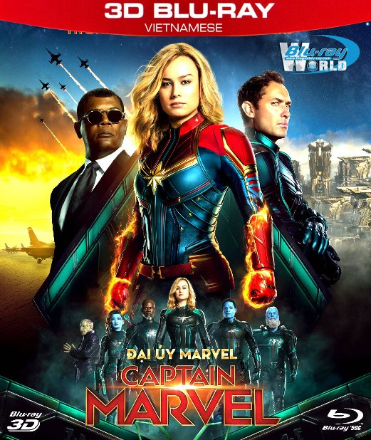 Z277. Captain Marvel 2019 - Đại Úy Marvel 3D50G (DTS-HD MA 7.1)