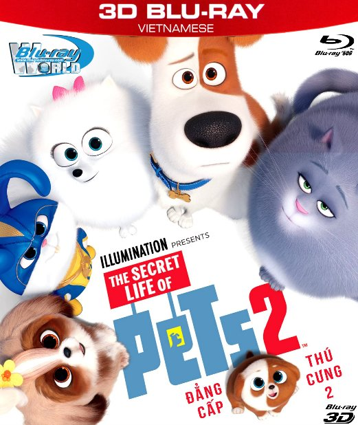 Z287. The Secret Life of Pets II 2019 - Đẳng Cấp Thú Cưng 2 3D50G (TRUE- HD 7.1 DOLBY ATMOS)