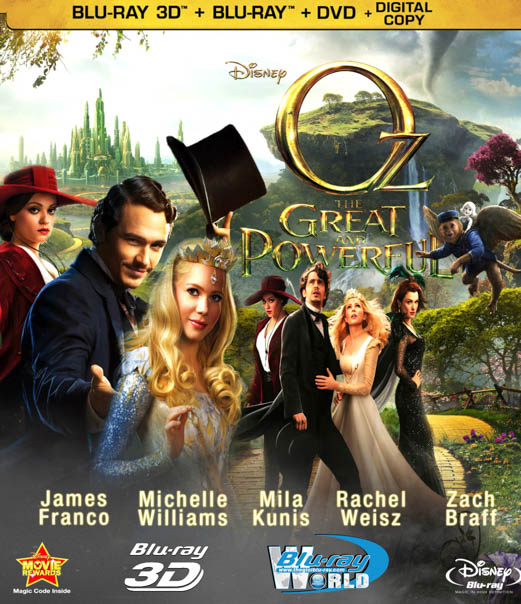 F297 - Z009 - Oz the Great and Powerful - LẠC VÀO XỨ OZ 3D 50G (DTS-HD MA 7.1)