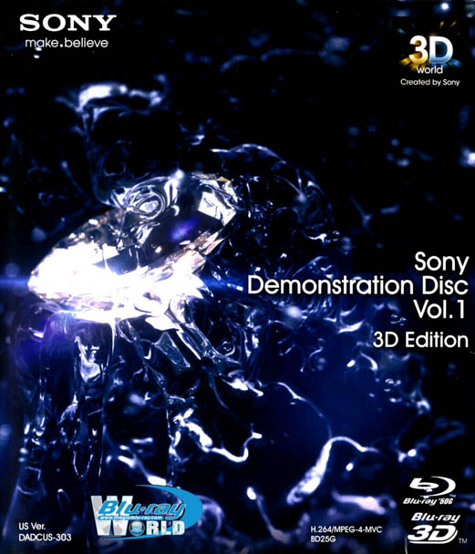 F610. Sony Demonstration Disc Vol.1 - 3D/2D Edition (50G)