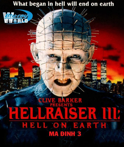 B2633. Hell on Earth - Hellraiser 3 - Ma Đinh 3 2D25G (DTS-HD MA 5.1)