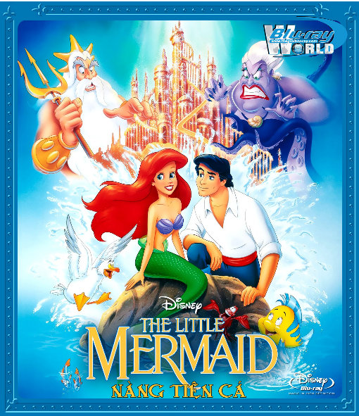 B1413. The Little Mermaid 1989  - NÀNG TIÊN CÁ 2D 25G (DTS-HD MA 7.1)
