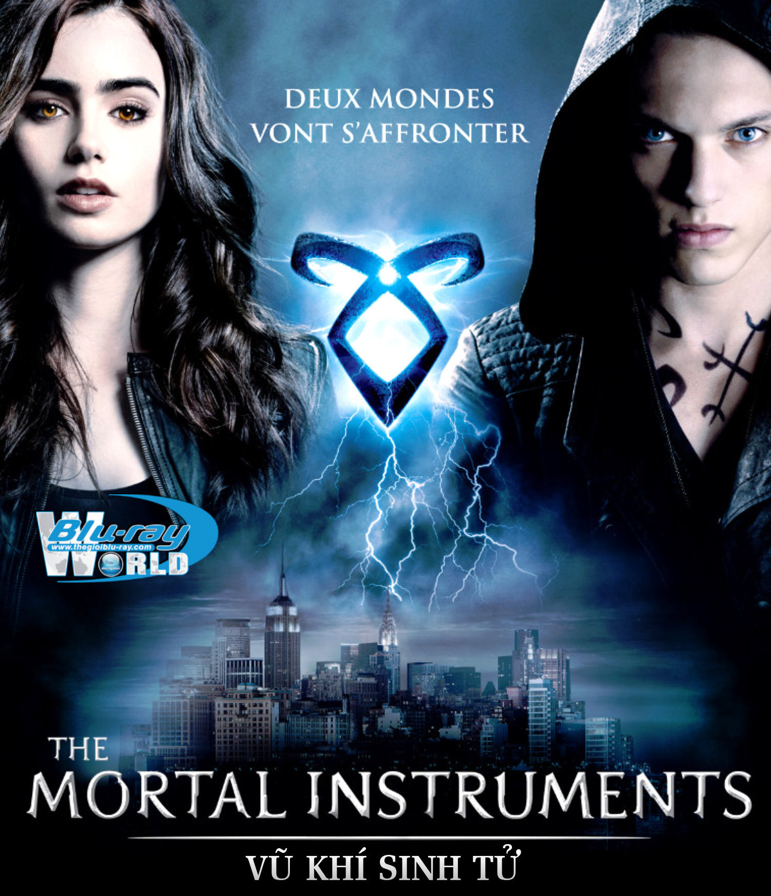 B1459. The Mortal Instruments City Of Bones (no cinavia) - VŨ KHÍ SINH TỬ USA 2D 25G (DTS-HD MA 5.1) nocinavia
