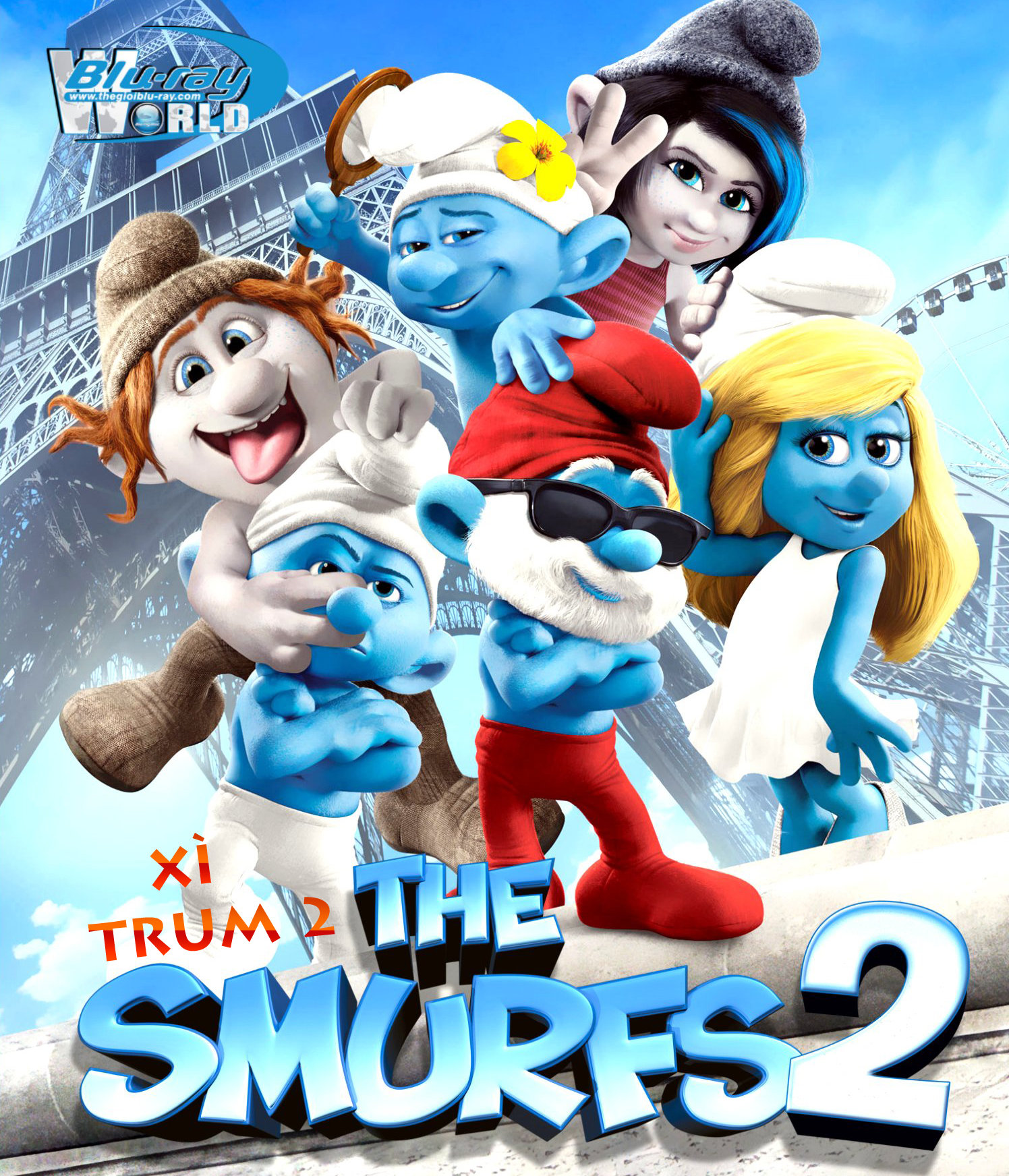 B1516. The Smurfs 2 - XÌ TRUM 2 2D 25G (DTS-HD MA 5.1)