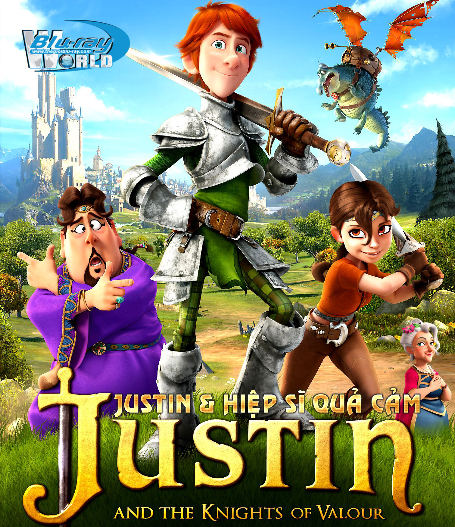 B1567. Justin And The Knights Of Valour - JUSTIN & HIỆP SỸ QUẢ CẢM 2D 25G (DTS-HD MA 5.1)