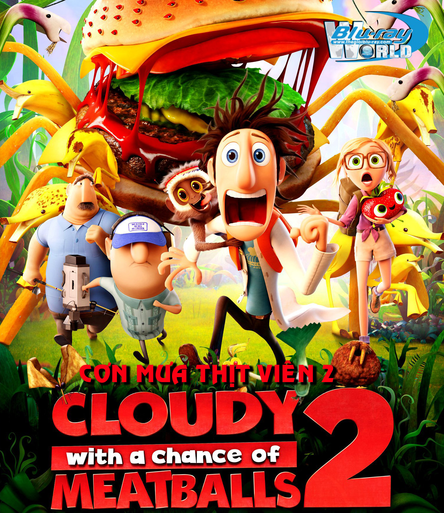 B1589. Cloudy with a Chance of Meatballs 2 - CƠN MƯA THỊT VIÊN 2 2D 25G(DTS-HD MA 5.1)