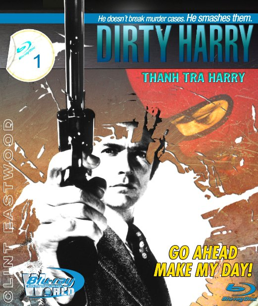 B1652. Dirty Harry 1  Dirty Harry - THANH TRA HARRY 1 - THANH TRA HARRY 2D 25G (DTS-HD MA 5.1)