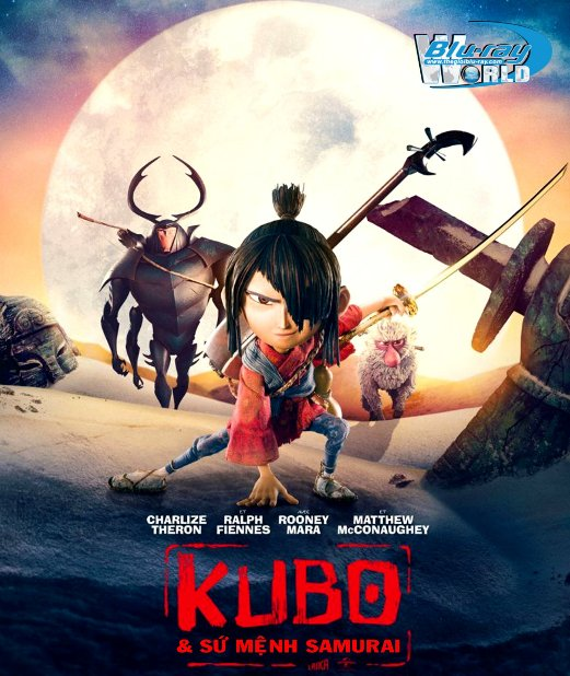 B2770. Kubo and the Two Strings 2016 - Kubo và Sứ Mệnh Samurai 2D25G (DTS-HD MA 5.1)