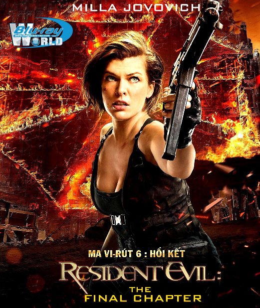 B2922. Resident Evil The Final Chapter 2017 - MA VI-RÚT : HỒI KẾT 2D25G (DTS-HD MA 7.1) nocinavia
