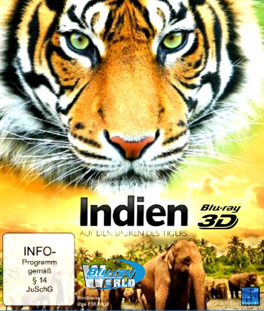 F506. India On The Trail Of The Tiger 3D 2013