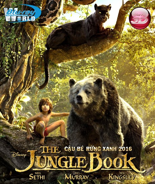 D295.The Jungle Book 2016 - Cậu Bé Rừng Xanh 3D25G (DTS-HD MA 7.1)