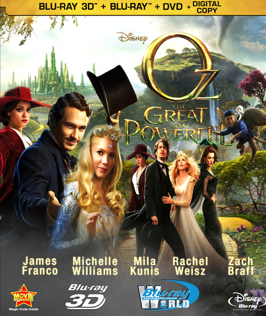 D155. Oz the Great and Powerful 2013 - LẠC VÀO XỨ OZ 3D 25G (DTS-HD MA 7.1)