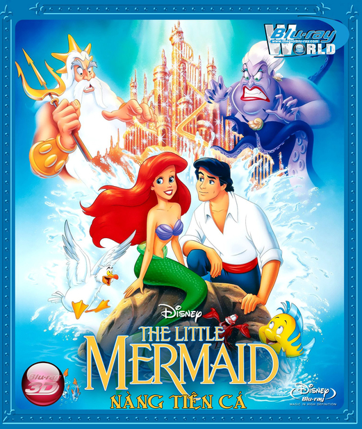 D170. The Little Mermaid 1989 - NÀNG TIÊN CÁ 3D (DTS-HD MA 7.1)