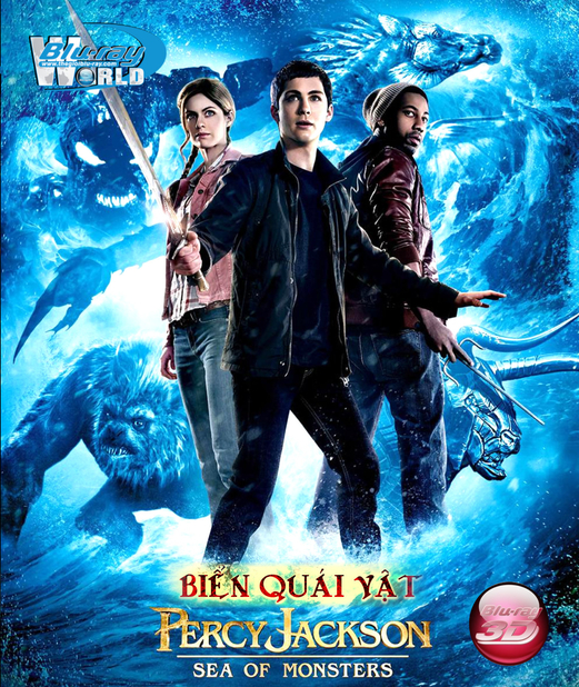 D181. Percy Jackson Sea Of Monsters - BIỂN QUÁI VẬT 3D 25G(DTS-HD MA 5.1)