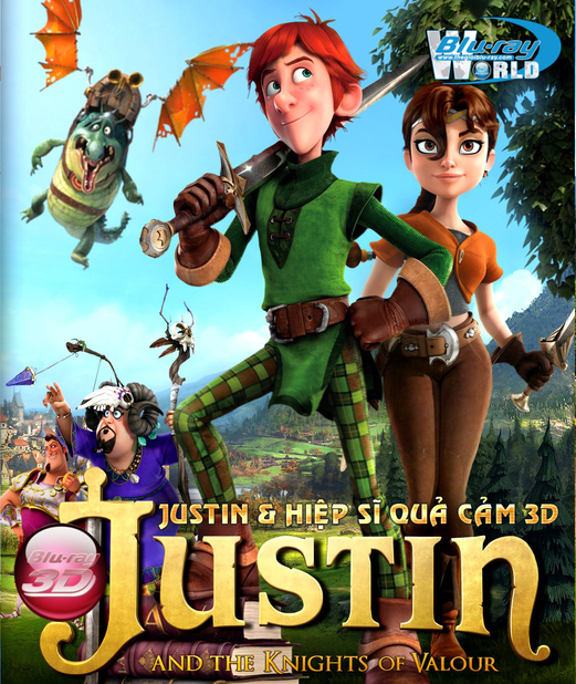 D187. Justin And The Knights Of Valour - JUSTIN & HIỆP SỸ QUẢ CẢM 3D 25G(DTS-HD MA 5.1)