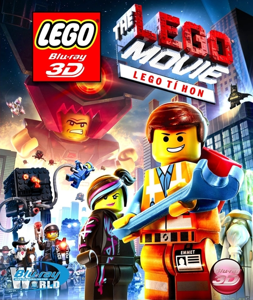 D207. The Lego Movie - LEGO TÍ HON 3D 25G(DTS-HD MA 5.1)