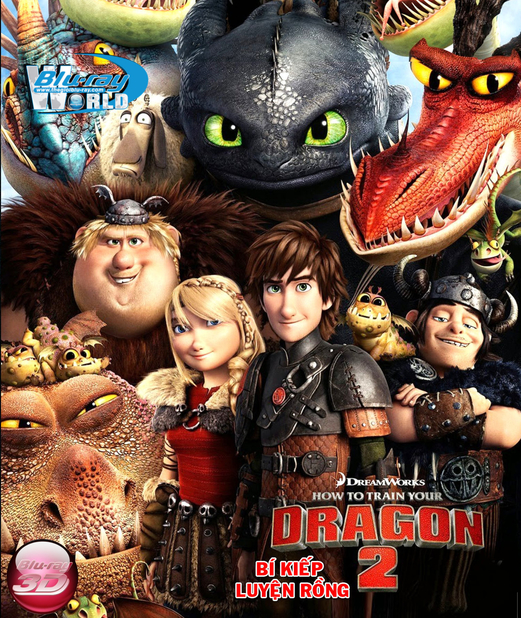 D220. How To Train Your Dragon 2 2014 - BÍ KIẾP LUYỆN RỒNG 2 3D 25G (DTS-HD 7.1)