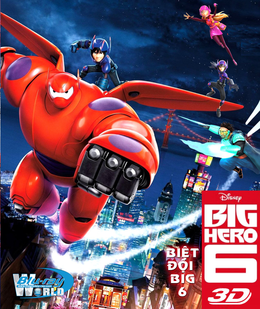 D241. Big Hero 6 2014  - BIỆT ĐỘI BIG 6 3D25G (DTS-HD MA 7.1)