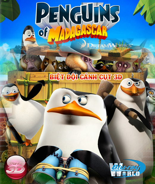 D243. The Penguins of Madagascar  2015 - BIỆT ĐỘI CÁNH CỤT 3D25G (DOLBY TRUE HD 5.1)