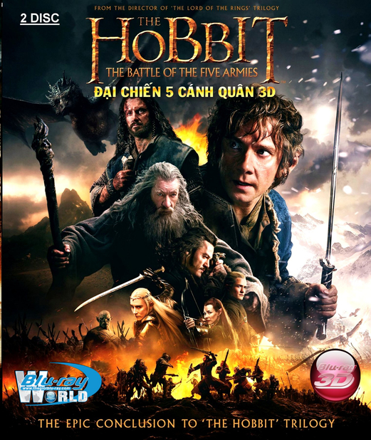 D244. The Hobbit The Battle of the Five Armies - ĐẠI CHIẾN NĂM CÁNH QUÂN 3D25G (DTS-HD MA 7.1)