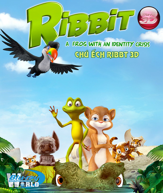 D248. Ribbit - CHÚ ẾCH RIBBIT 3D 25G (DTS-HD MA 5.1)