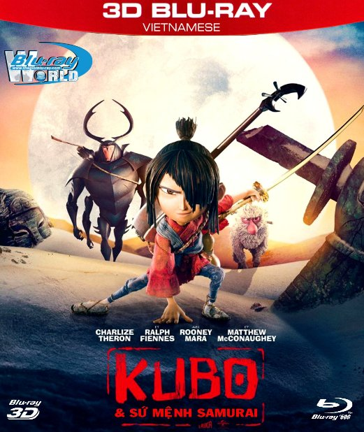 Z204.Kubo and the Two Strings 2016 - Kubo và Sứ Mệnh Samurai 3D50G (DTS-HD MA 5.1)